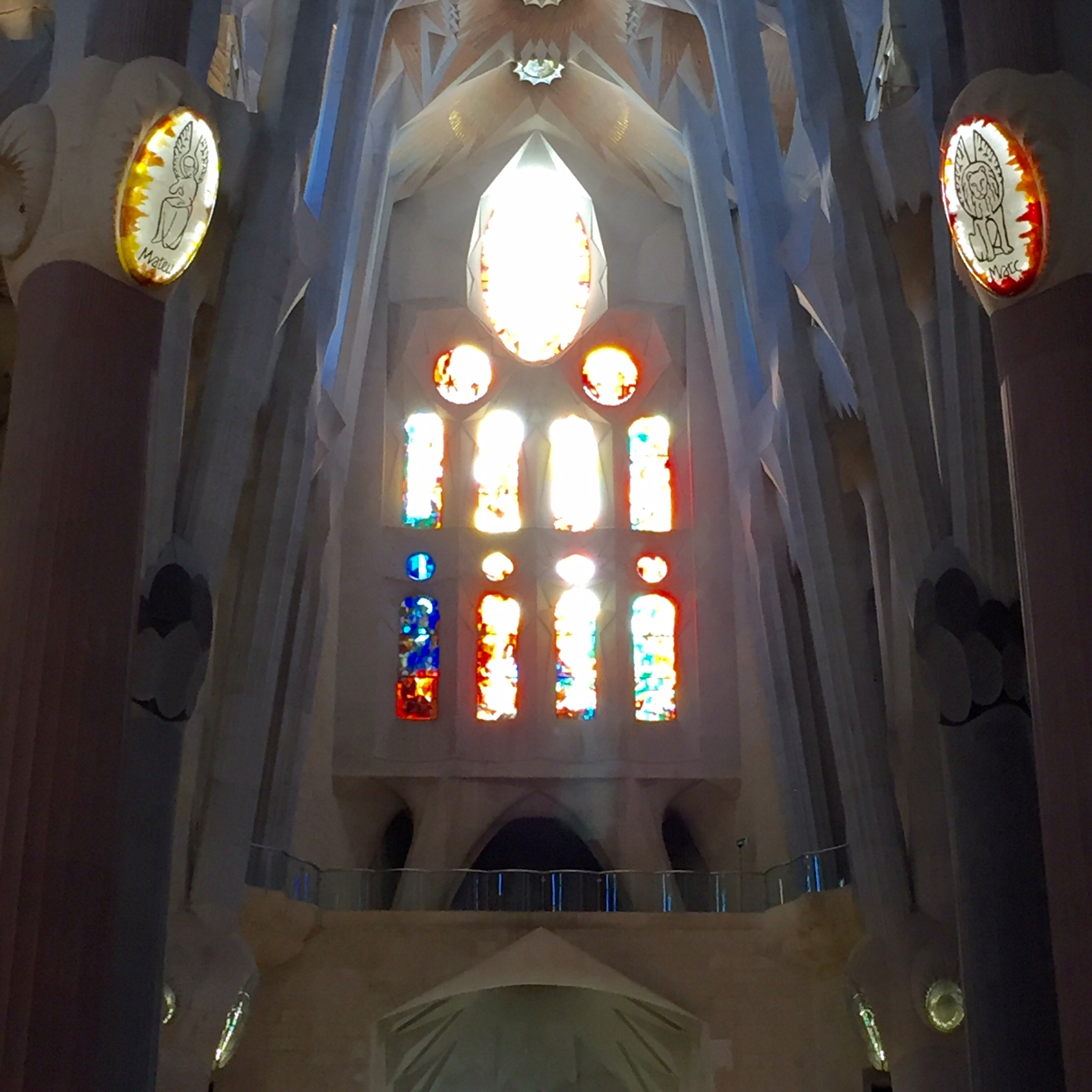 Stained glass at La Sagrada Familia