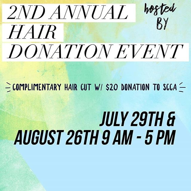 Donation Day is coming, mark your calendars!! Our stylist @hethernicolehair has partnered up with @revolveglamour and @beyoutiful_foundation once again to help women and children in need of wigs while going through therapy. ❤