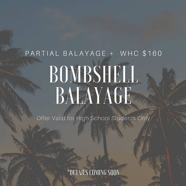 High School Beauties, come transform with a Bombshell Balayage + Women's Hair Cut for $160! *RESTRICTIONS APPLY*  RESTRICTIONS: • With select stylists only • Must have a valid high school ID *digital ID OK* • Must post to Insta wall tagging Sorella Salon & Spa, our location & the stylist ***PRIOR*** to checking out *ADDITIONALLY* Complete any of the following to receive more goodies! • Insta Story w/ Sorella Salon & The Stylist Tagged • Yelp Post w/ Photo & Stylist Name • Rebook Within 12 Weeks w/ Same Stylist (completed same day as initia appointment and prior to check out)  Complete 1/3: ☆ 10% off Toner Service (Stand alone Toner service ONLY, does not include Toner Add On's) Complete 2/3: ☆ $30 off next color service  Complete 3/3: ☆ Rebook within 12 weeks at time of initial appointment and receive a free Oribe product at time of next service