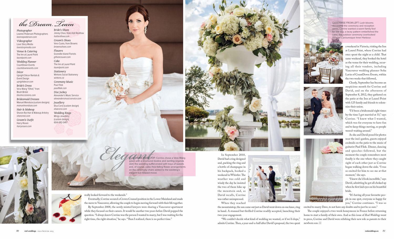 As seen in  Real Weddings Magazine   Photos by Kyoko Fierro for Leanne Pedersen Photographers   www.leannepedersen.com
