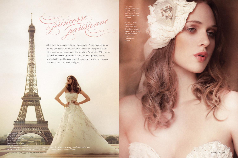 Photography by Kyoko Fierro for Real Weddings Magazine       www.leannepedersen.com