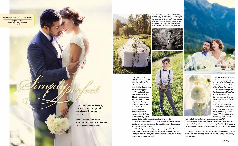 As seen in Real Weddings Magazine  Photos by Leanne Pedersen Photographers   www.leannepedersen.com