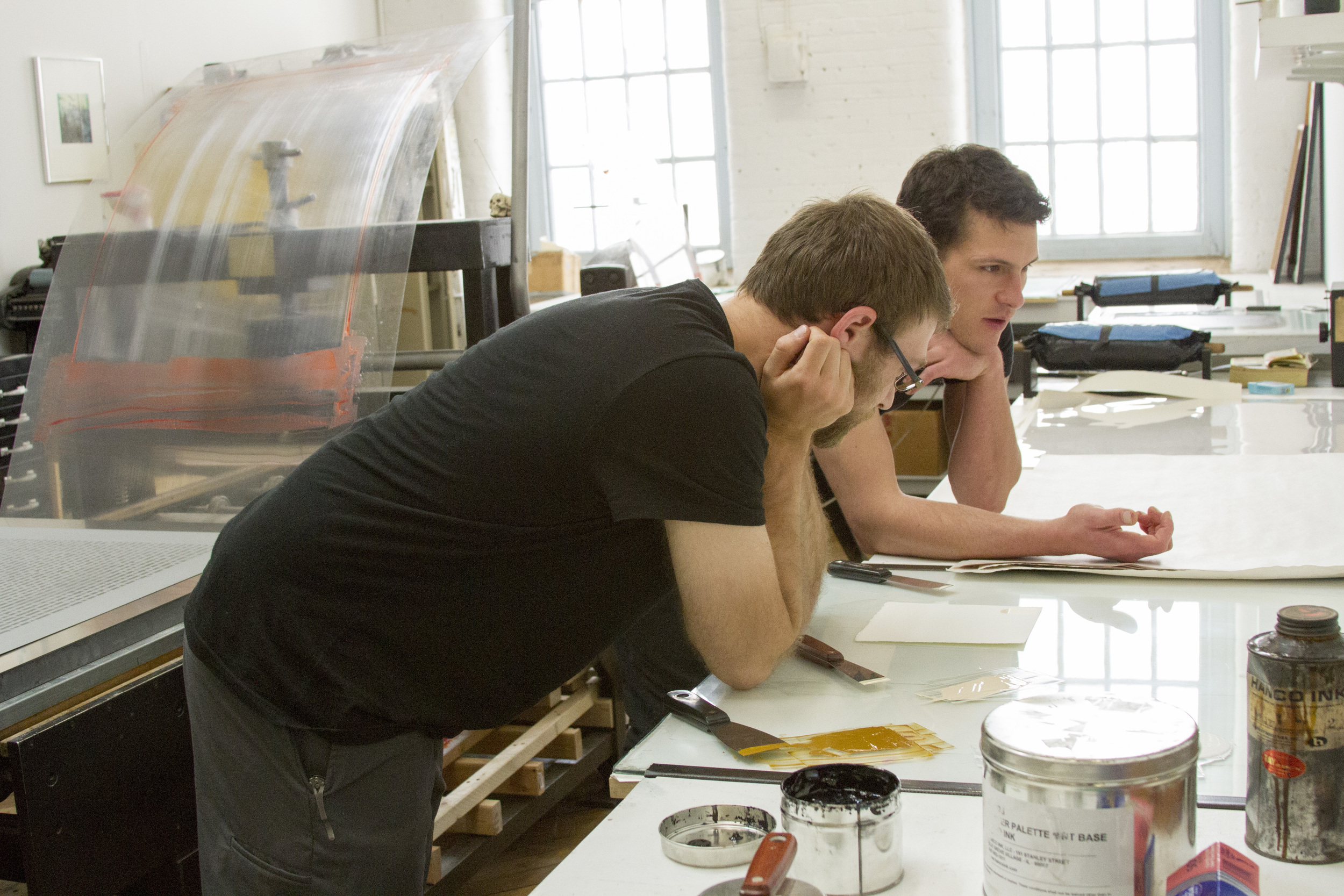 Artist Alex Hamrick and Master Printer Alex Kirillov