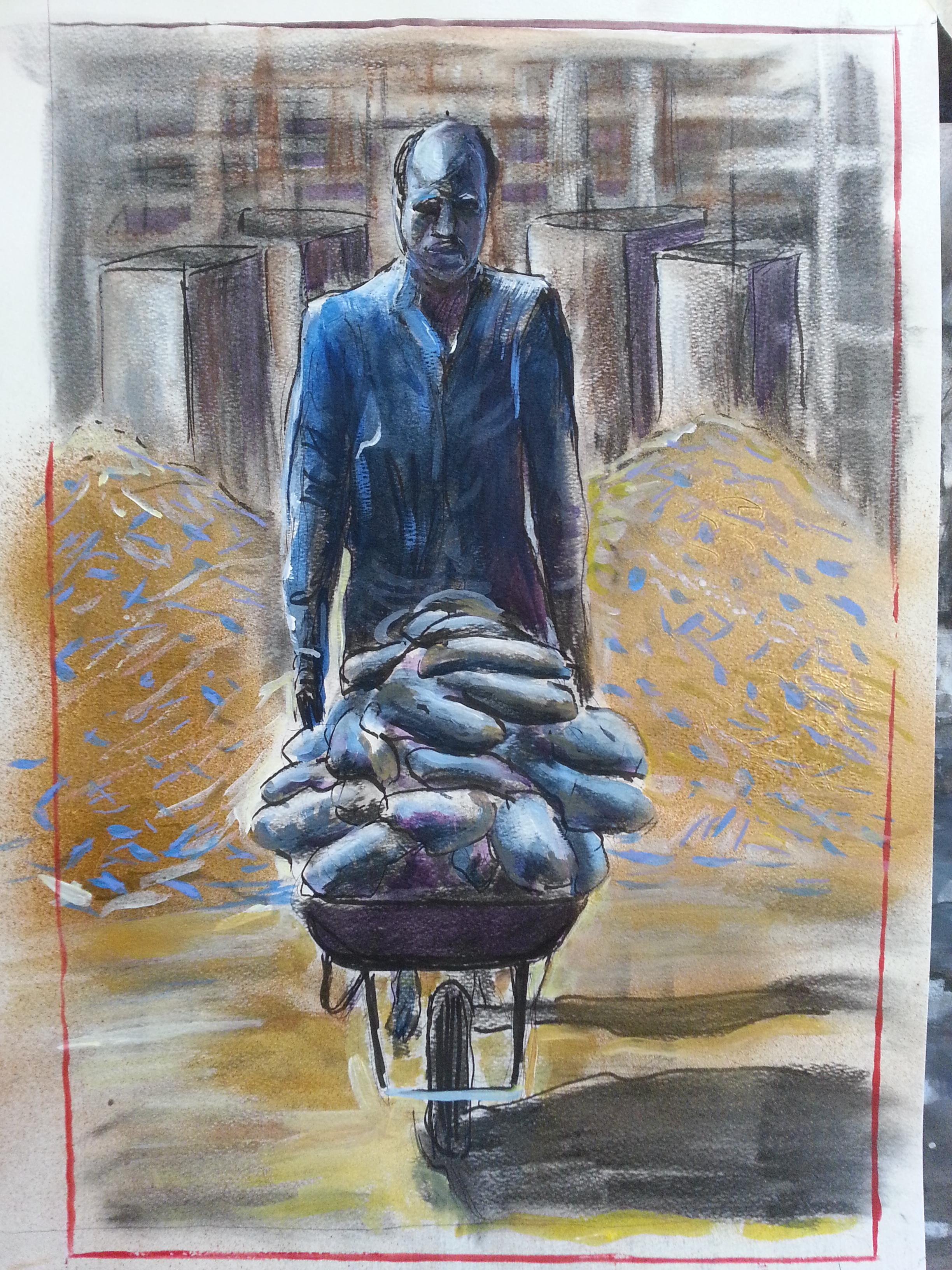 Yam seller (Lagos)