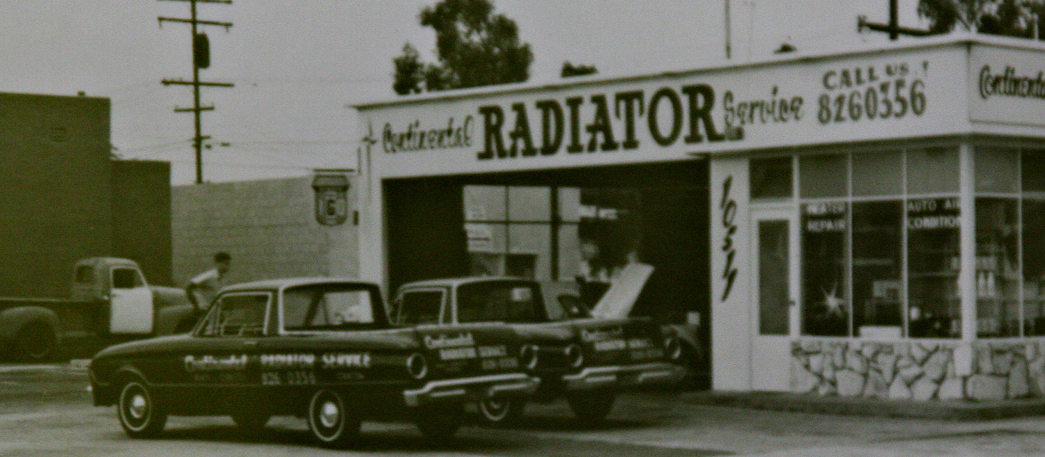 Vintage Photo 1961 Ford Rancheros at a radiator shop in Orange County