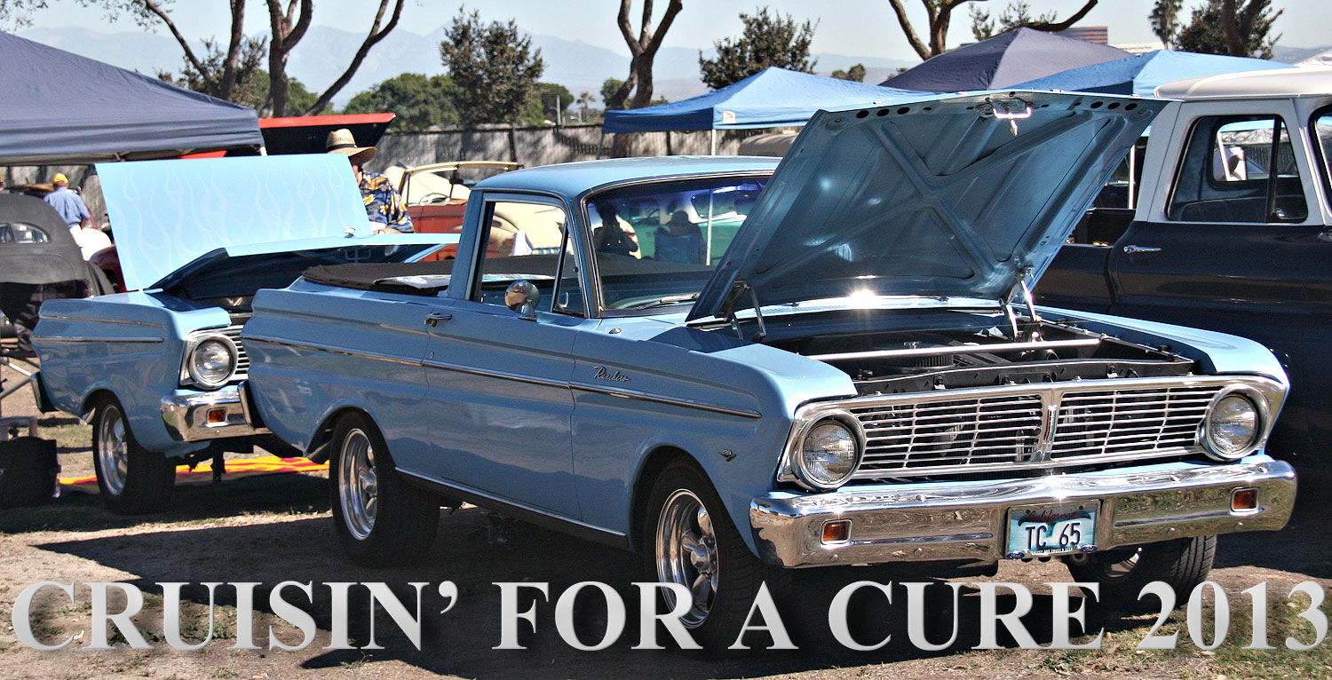 The Ranchero & the Blue Q at Cruisin for a Cure 2013