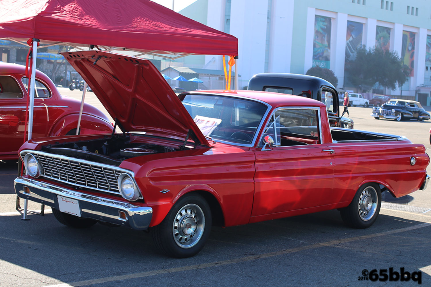 little red ranchero los angeles roadster show 65bbq