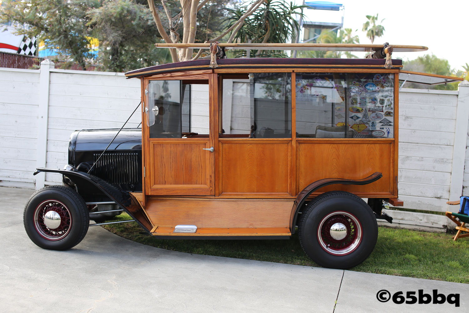 Ford Woodie hits the surf at the Fabulous Fords Forever Car Show April 2018