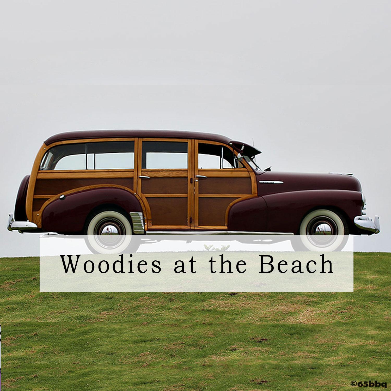 Woodies at the beach Santa Barbara