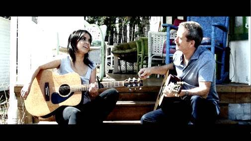 "Emm Gryner and Chris Hadfield in ""So Easy"" video"