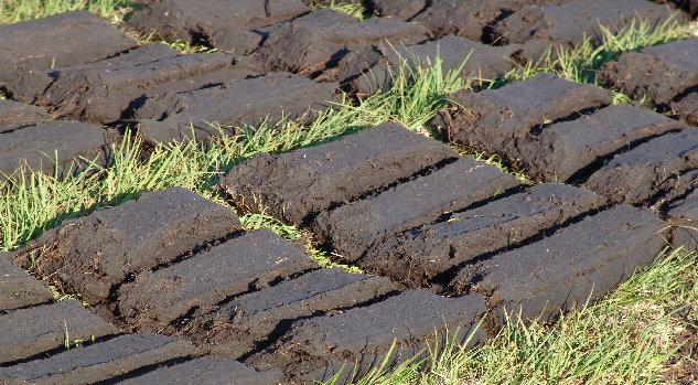 Drying peat