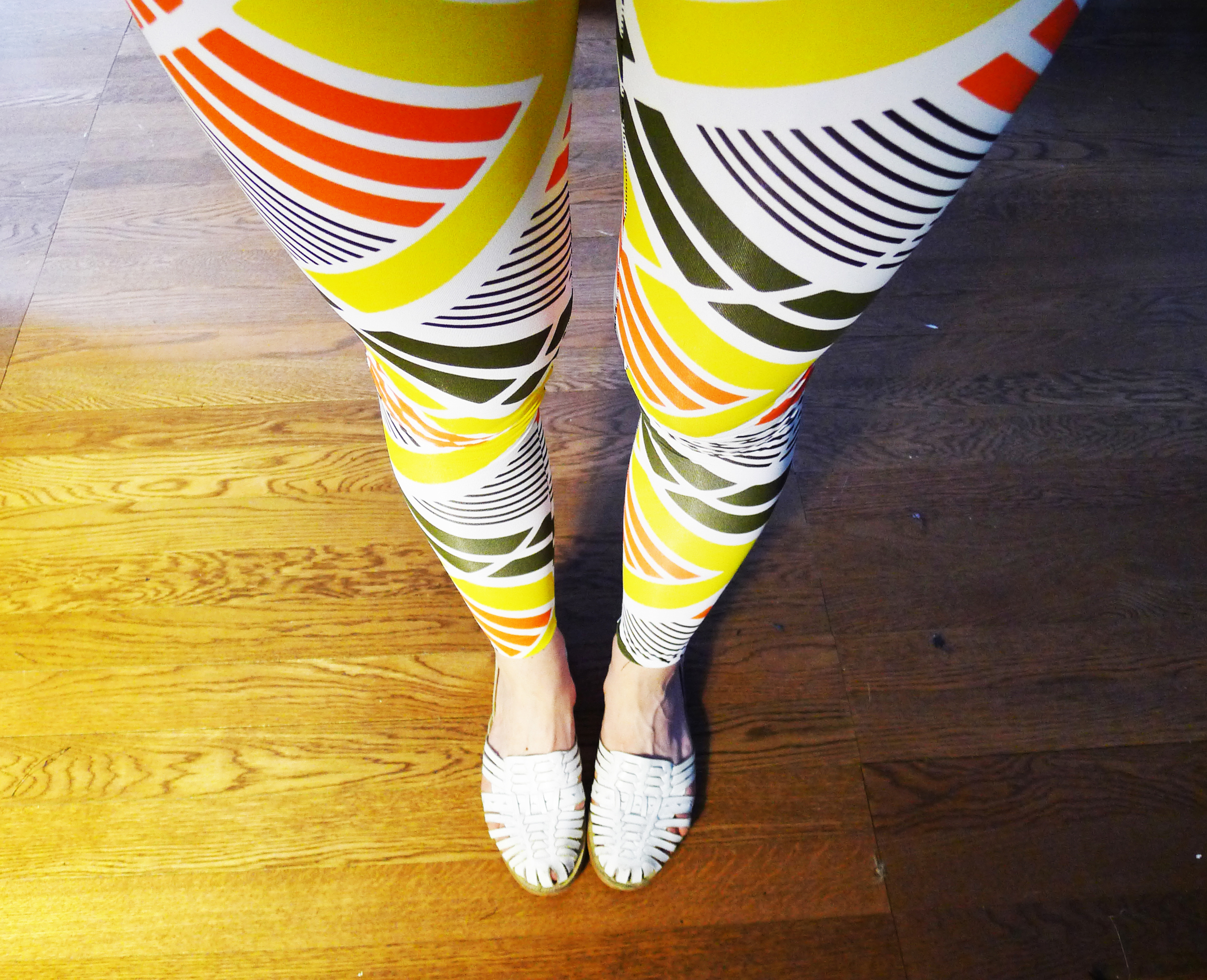 I also made these leggings today. They are my new favorite thing.