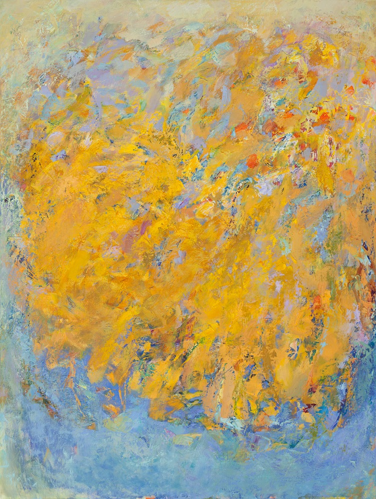 Om Yellow 2013, Oil on Linen (40 x 30 inch)