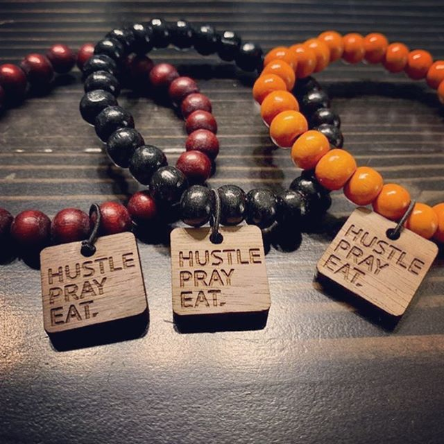 Making a wholesale order for @hustleprayeat.co was awesome! 130 bracelets, 5 colors, and logo tags for the final touch. • • • #wholesalejewelry #wholesalebracelets #hustleprayeatco #hustleprayeat #woodbracelets #braceletstacks #jamaicajacobson