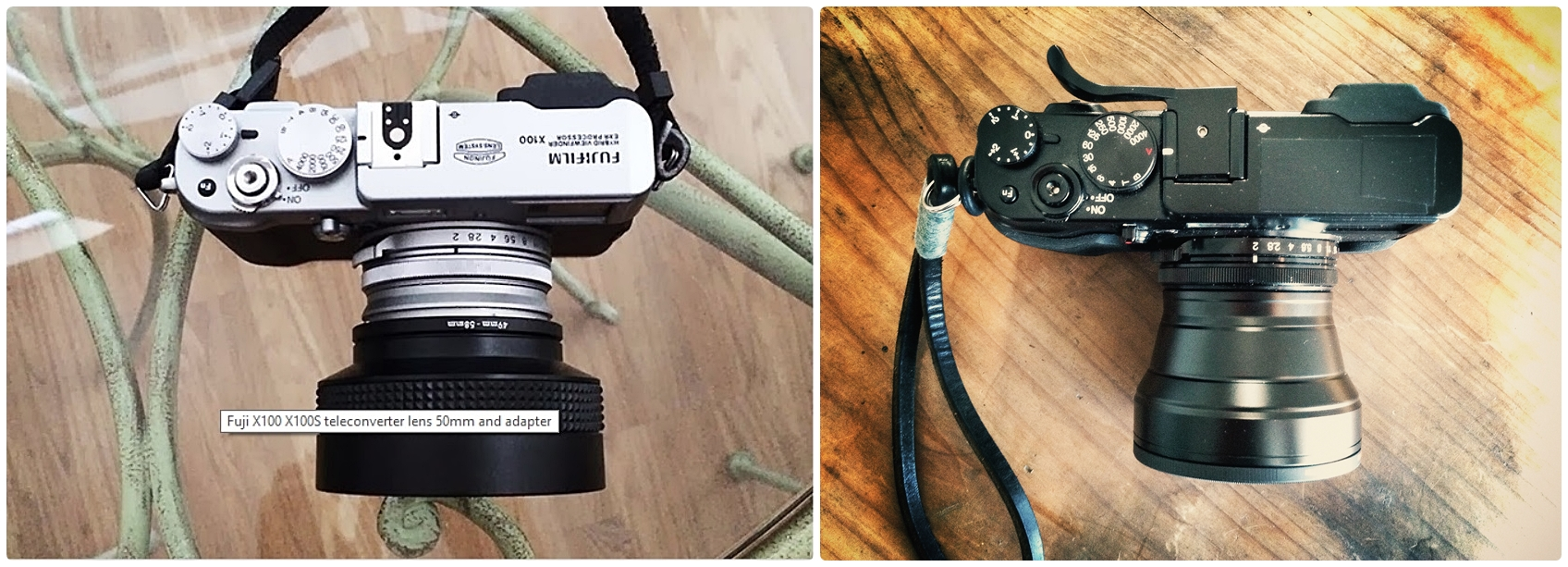 eBay version (left) Genuine Fujifilm (right)
