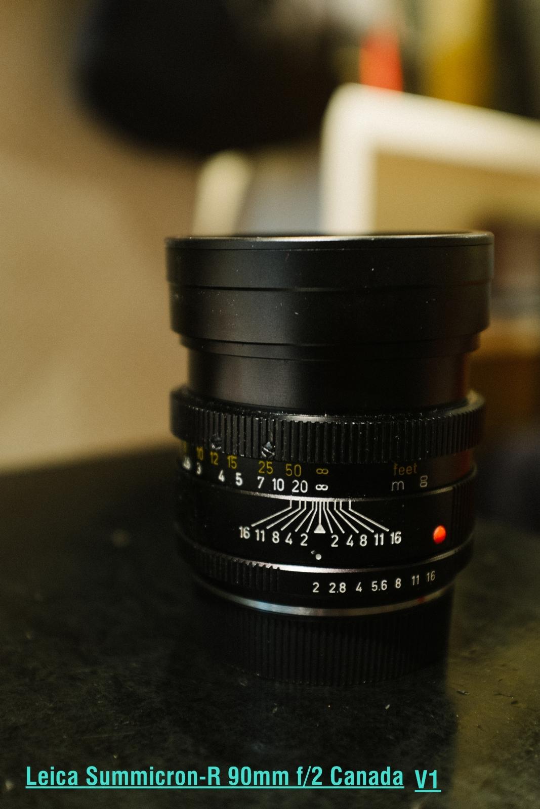 Leica Summicron-R 90mm F/2 Canada V1