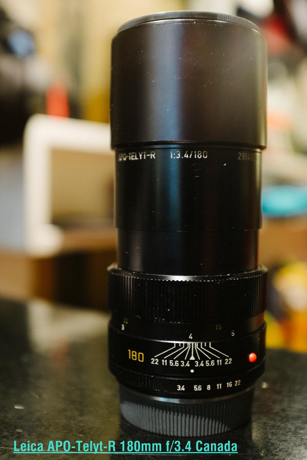 Leica APO-Telyt-R 180mm f/3.4 Canada