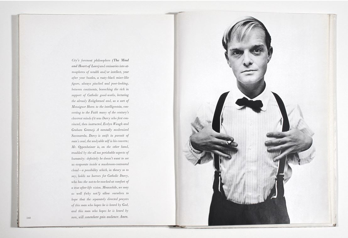 Richard Avedon's portrait of Truman Capote from   Observations,   1959