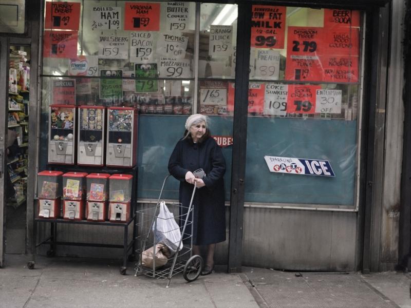 Woman and Shopping Cart, Brighton Beach, Brooklyn, New York, 1985
