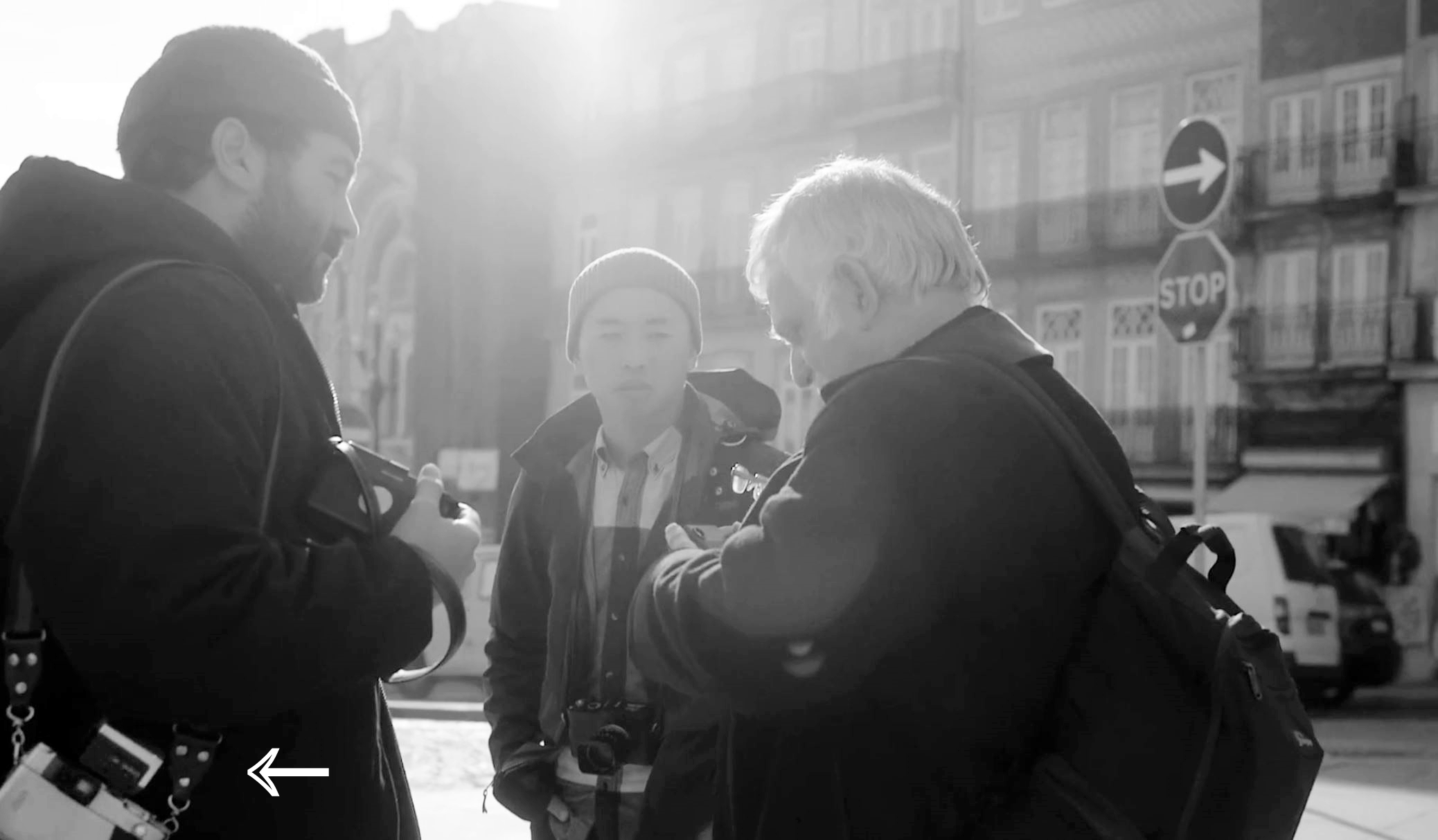 interesting DANIEL ARNOLD sporting a Contax G2 film camera ... no Leica MP ??