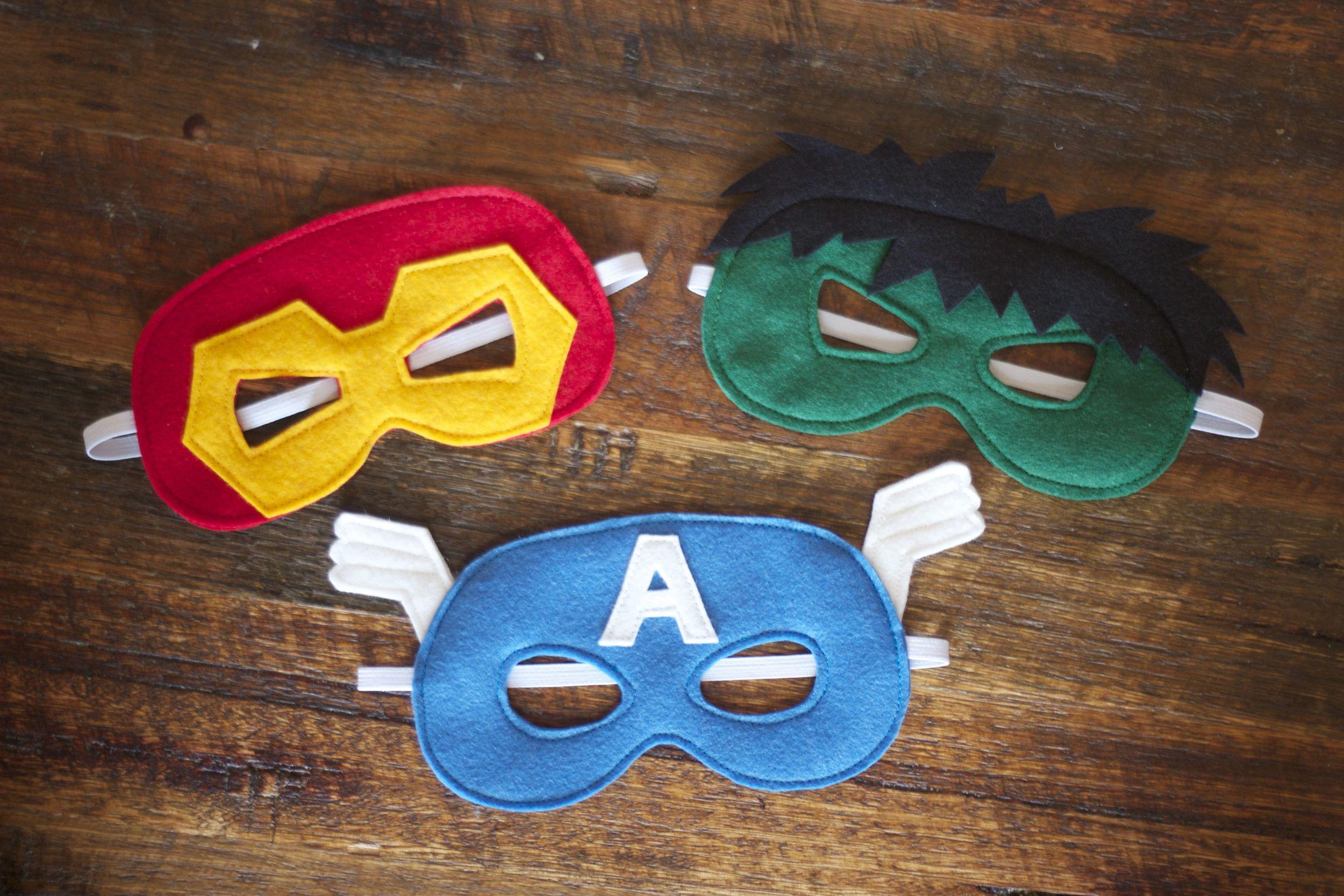 Superhero felt masks