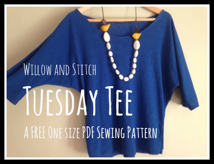Willow and Stitch Tuesday Tee PDF Pattern and Tutorial