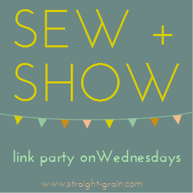 Sew and Show link party - Straight grain