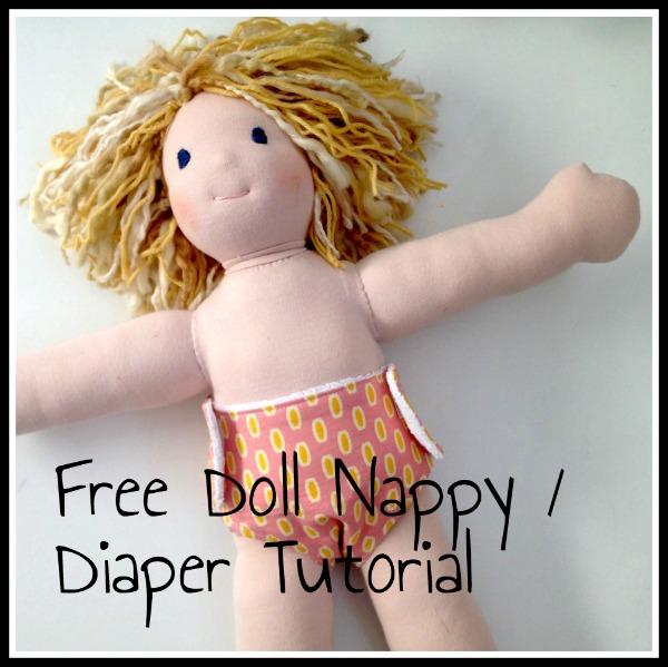 Free Doll Nappy / Diaper Pattern