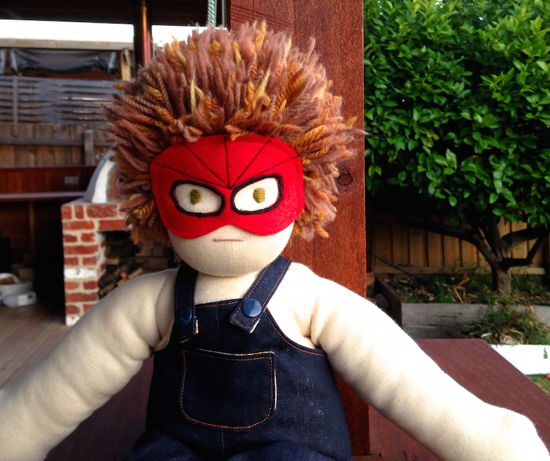 Doll Costume | Spiderman Mask by Willow & Stitch