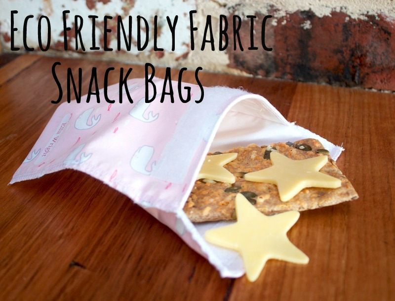 Eco Friendly Reusable Fabric Lunch / Snack bags | Free Tutorial from Willow & Stitch