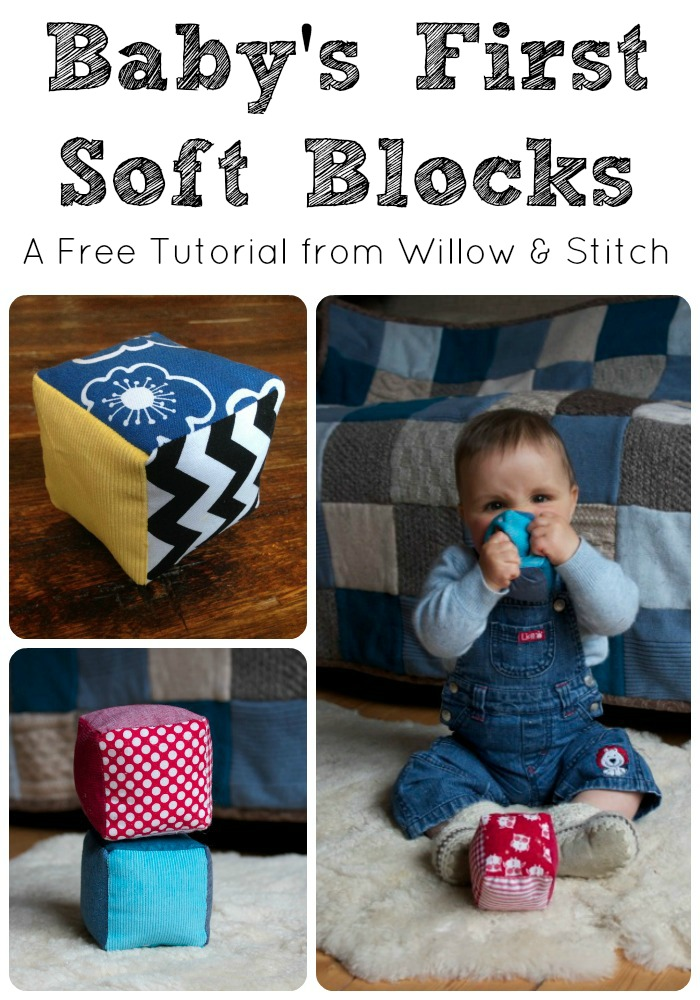 Baby's first soft blocks - a free tutorial from Willow & Stitch