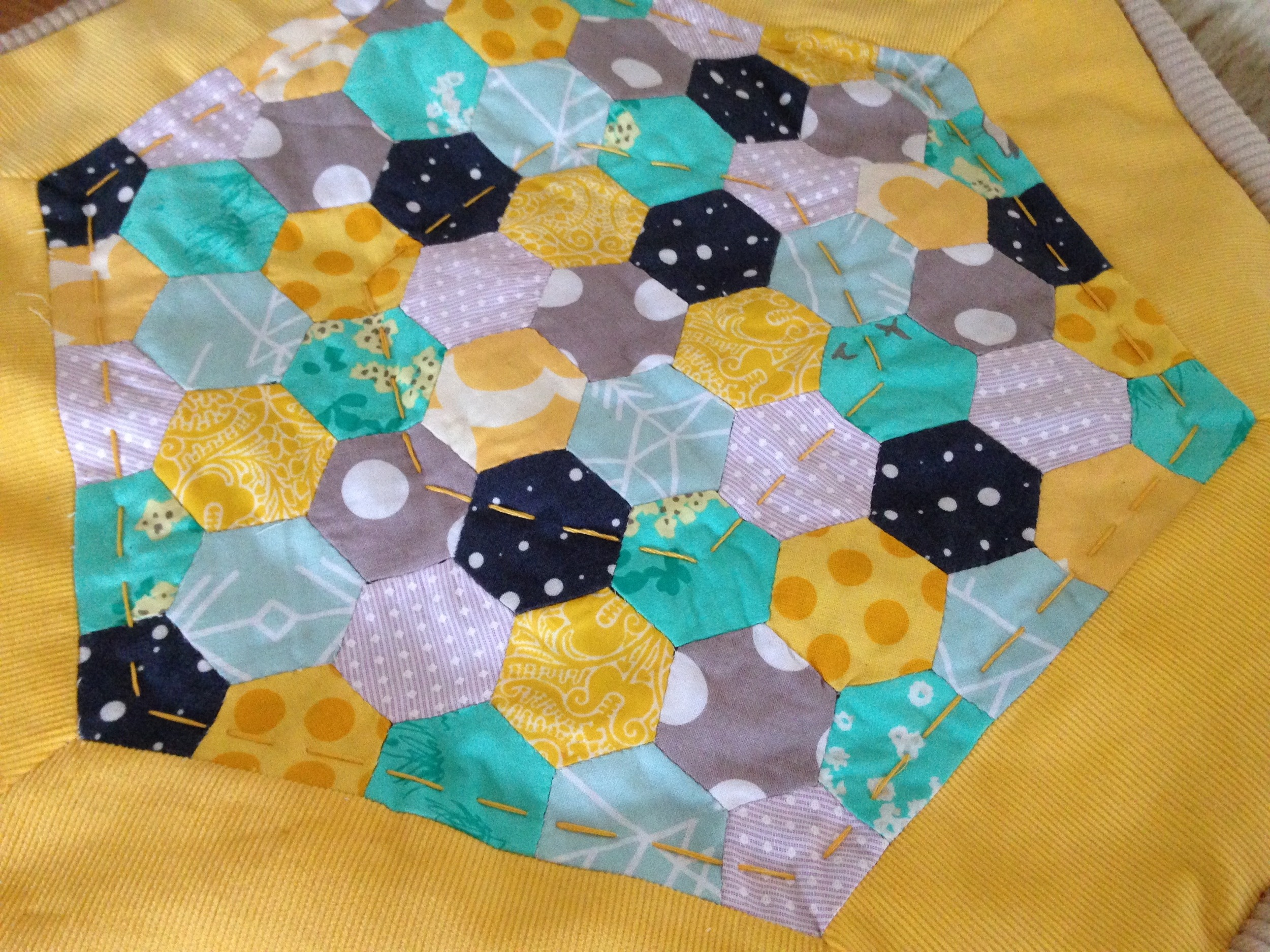 English Paper Piecing - A scrap busting Try Something New Every Month Project