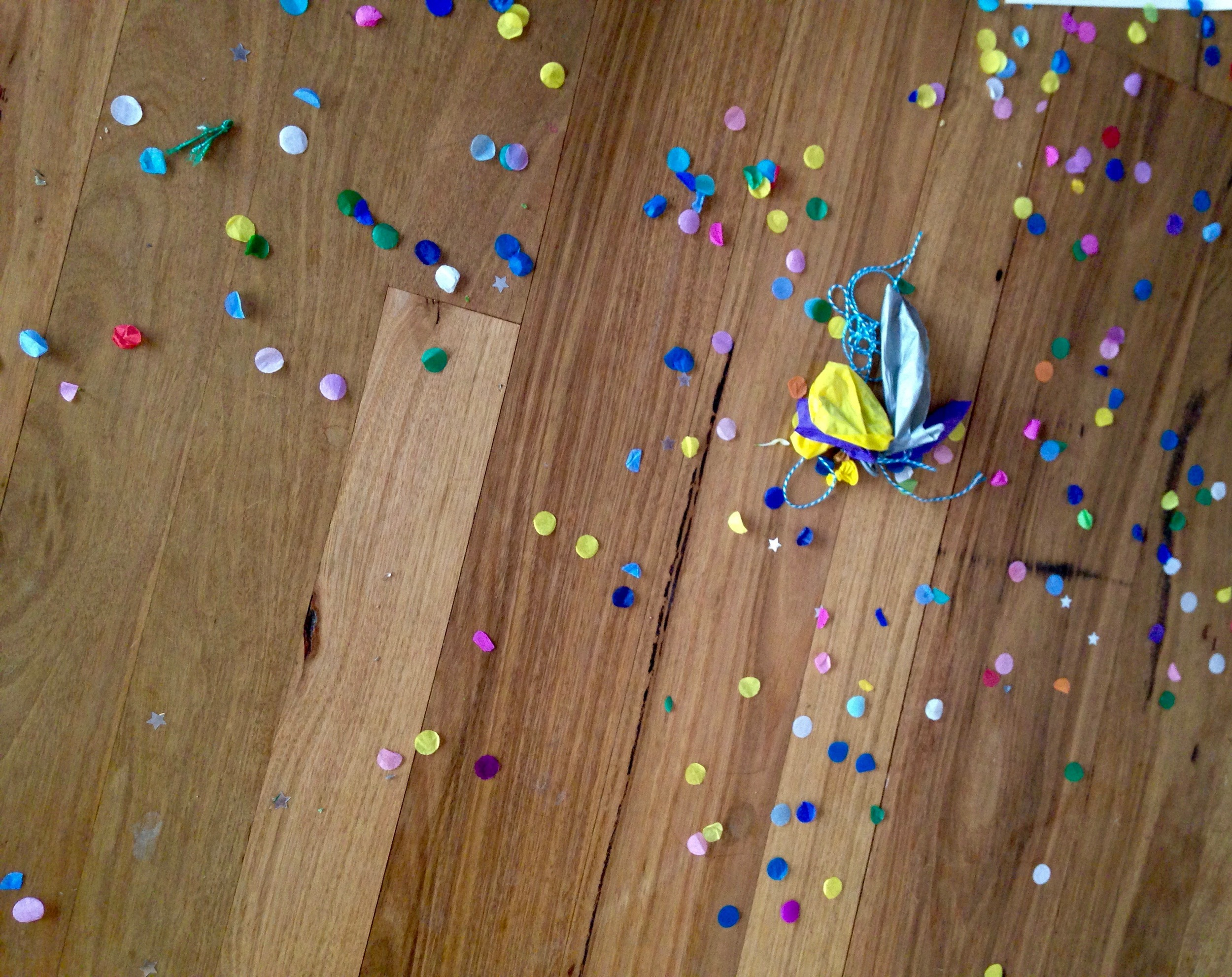 Confetti Filled Balloons - the aftermath
