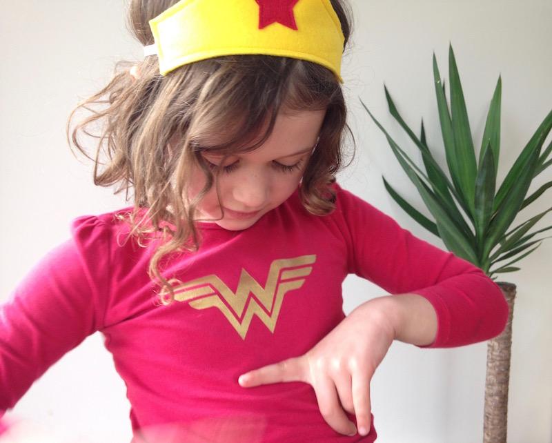 Freezer Paper Stencilling - Wonderwoman