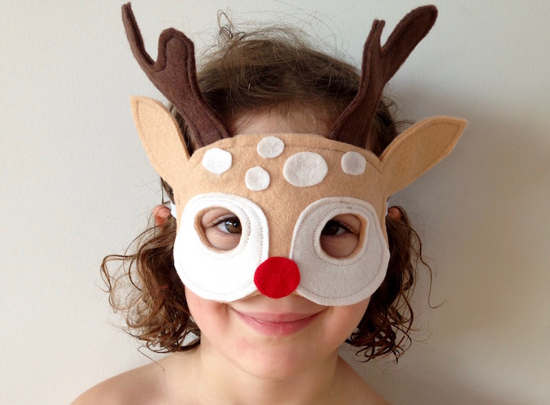 Reindeer Mask Tutorial