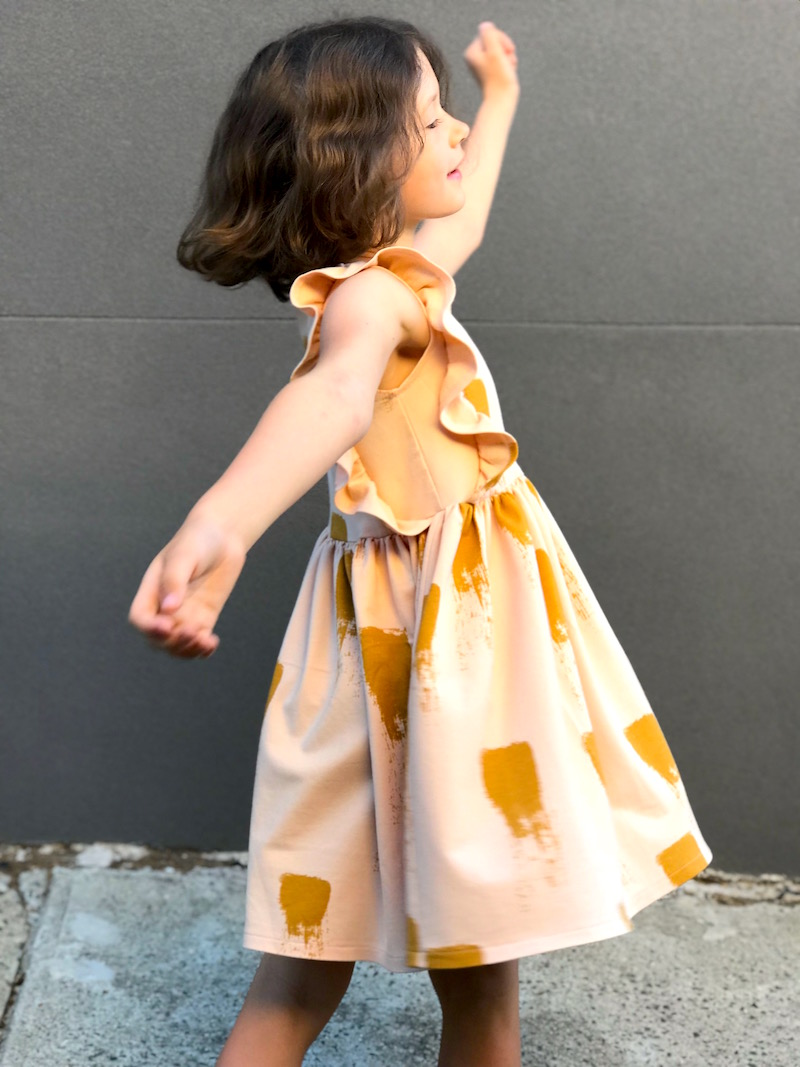 Millie Dress in See You at Six French Terry