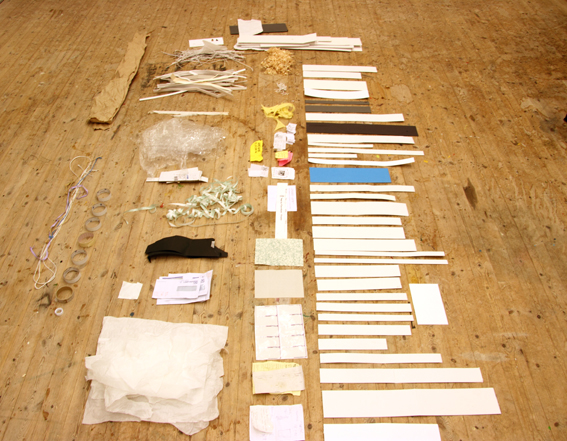 Then I sorted and grouped all my new treasures. Even if i don't make work with them I have things to play with, plastic bags to collect things in, old tape rolls to draw circles with, all sorts of bits of string and wire, and lots of free card and paper to draw on.