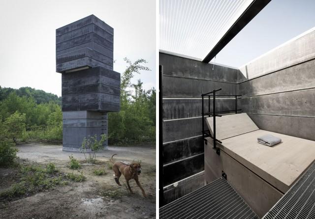 One man sauna...