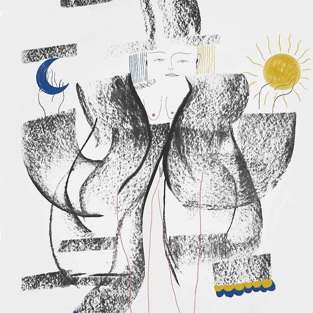 Door Silvia Bolognesi 🌚 • • #fijnemaandag #beginvandeweek #tarotcards #collage #illustratie #maker #kunst @bolognesi_silvia #silviabolognesiillustrations #collage #yeds #koppeltkunst