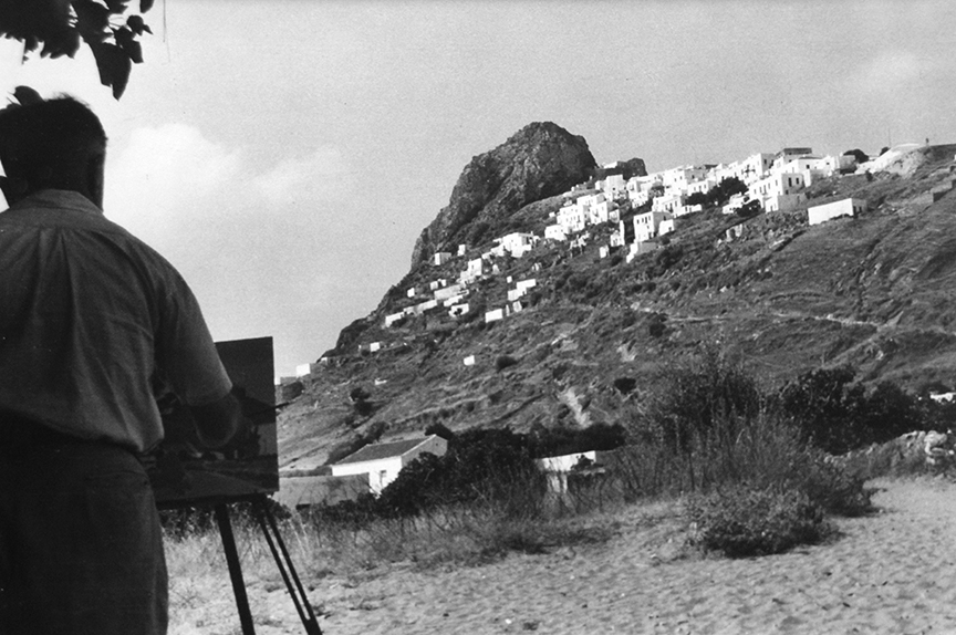 Keramidas painting on the island of Skyros, Greece
