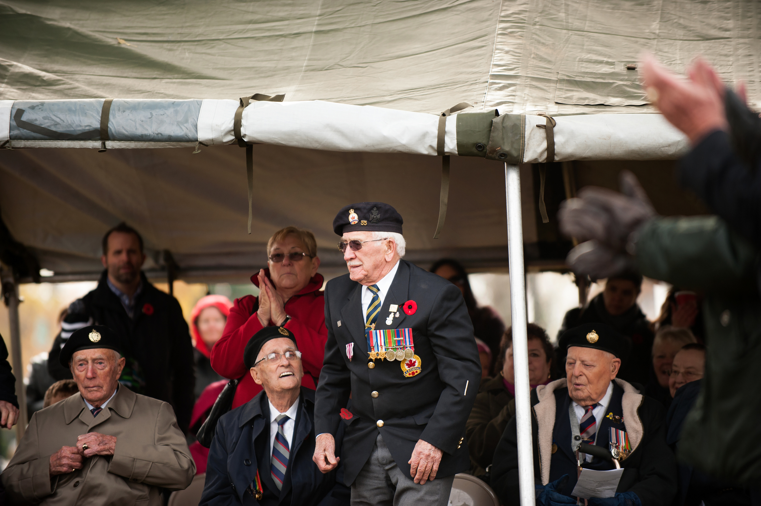 Ken, walking up to receive the Legion Of Honour Medal.