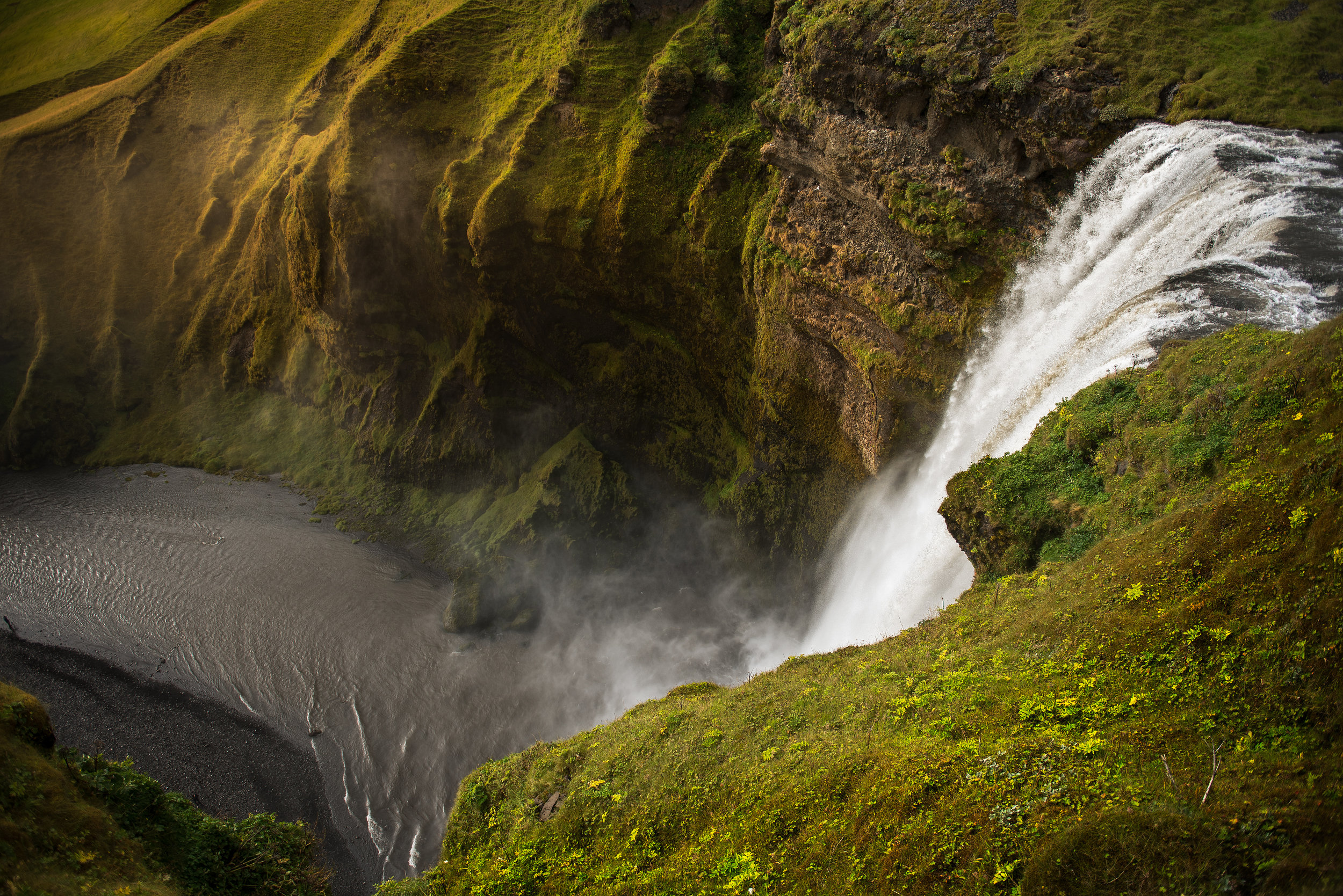 Skogafoss from the top... what a view.. after I caught my breath I could enjoy it.