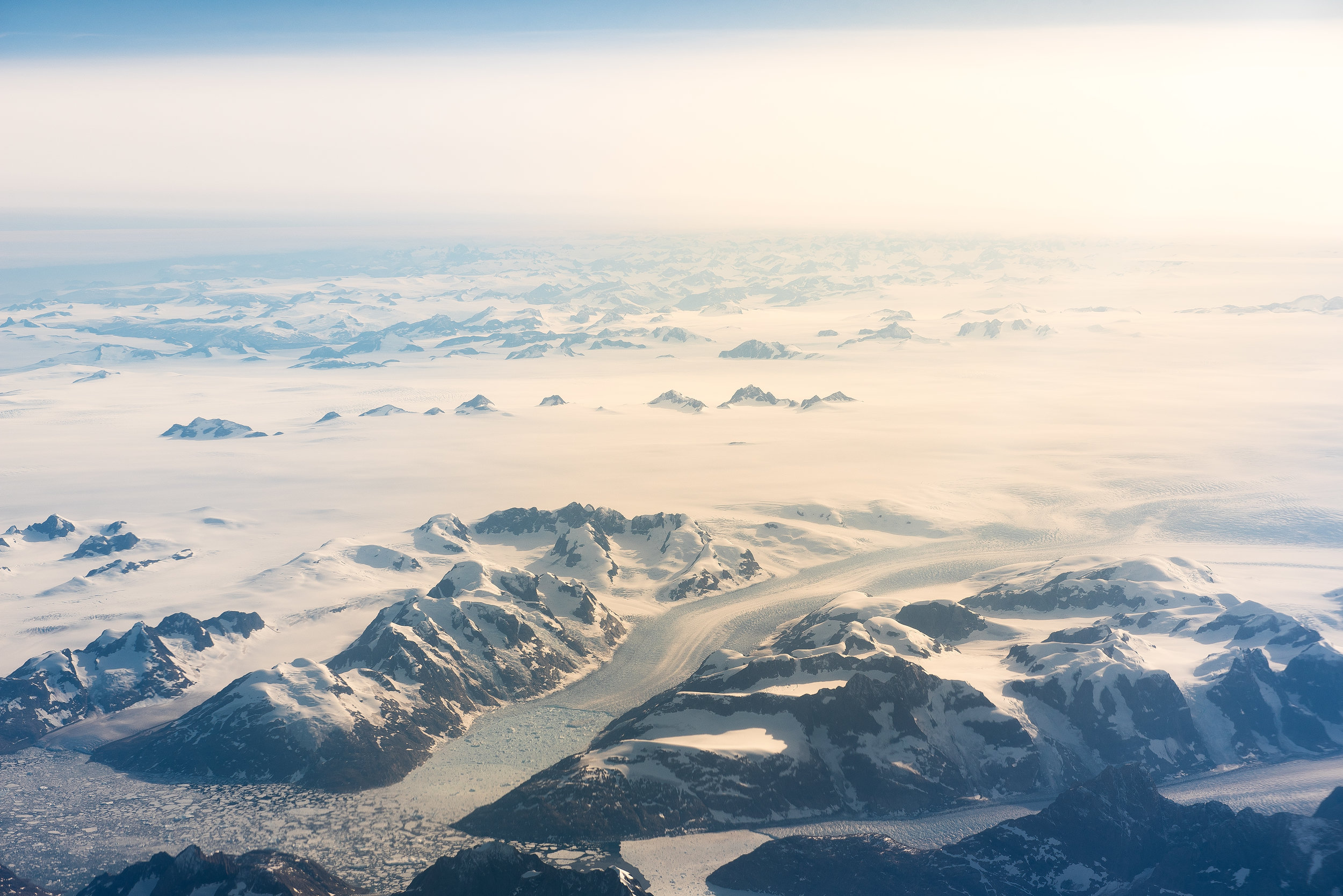 On the flight home, the pilot took us over Greenland, which was a great way to end the trip.. what a beautiful sight from the plane.