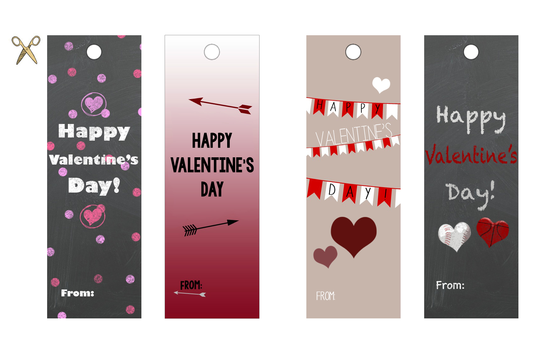 photo regarding Printable Valentines Bookmarks named Valentines against the Instructor Donut Receipt