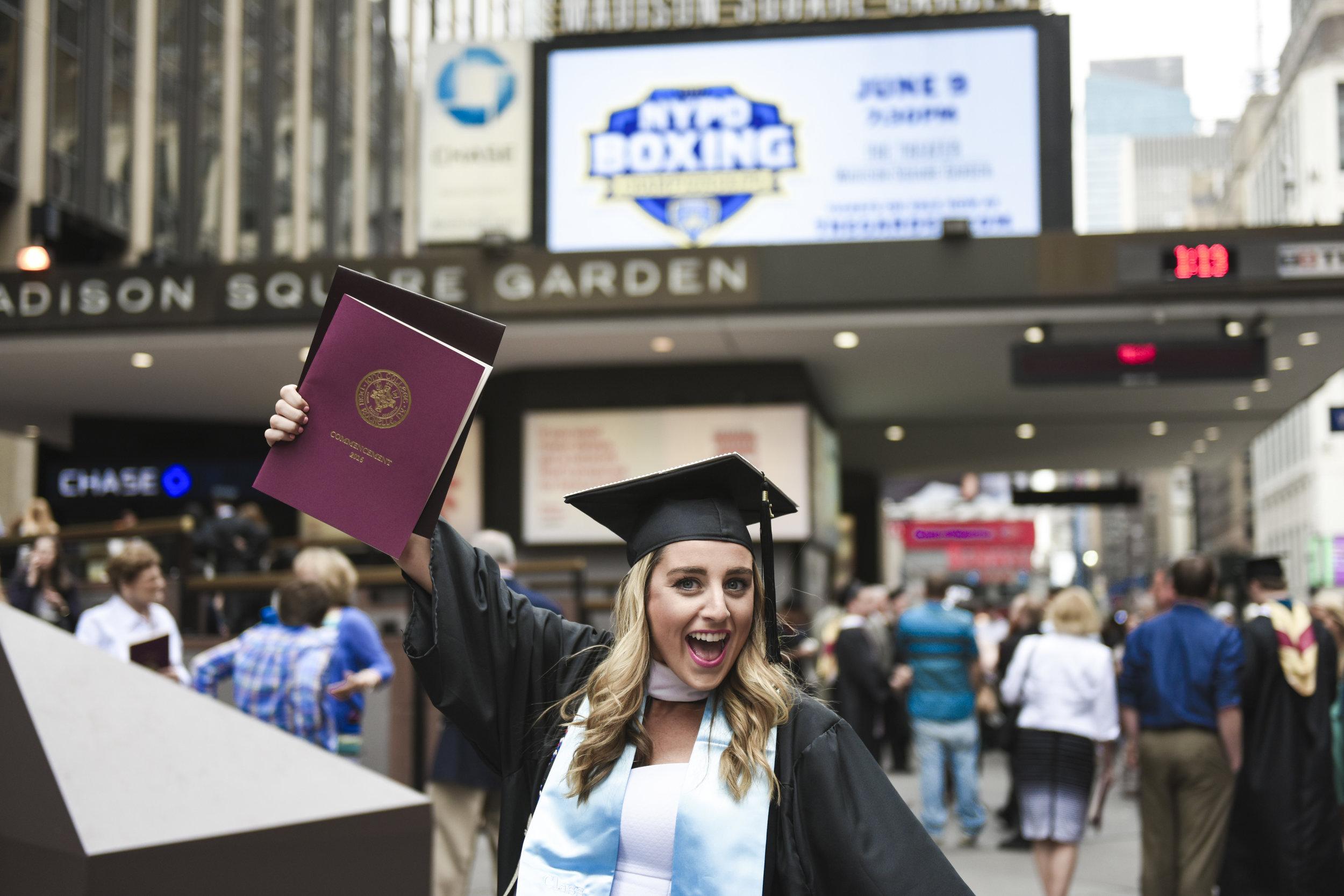 Rachel's graduation at Madison Square Garden