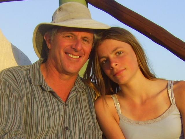 Mark and daughter Maya, Yucatan Peninsula, 2006