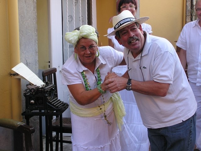 Dancing couple, Costa Brava, Spain