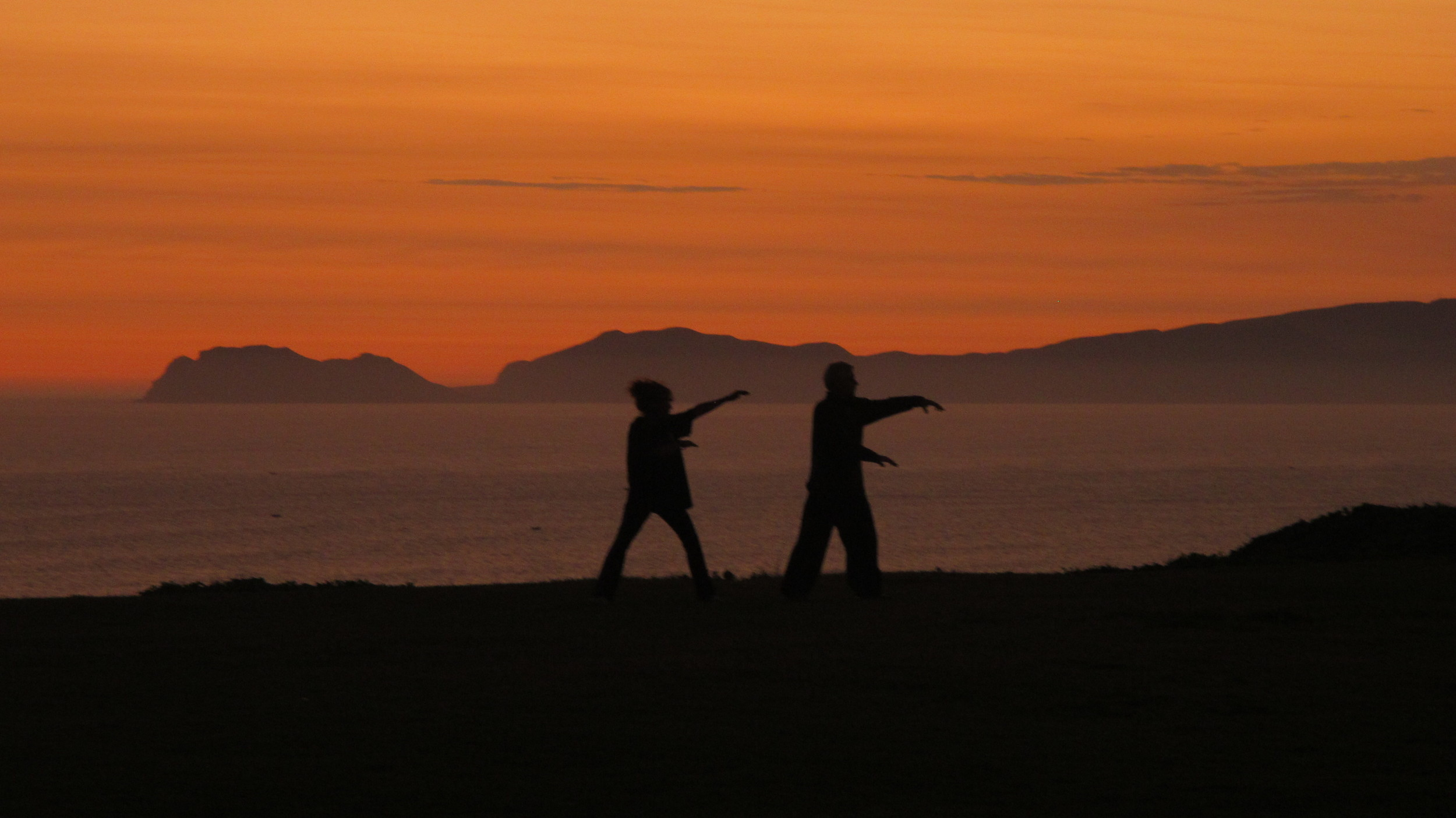 Tai chi practitioners, Miraflores district, Lima, Peru