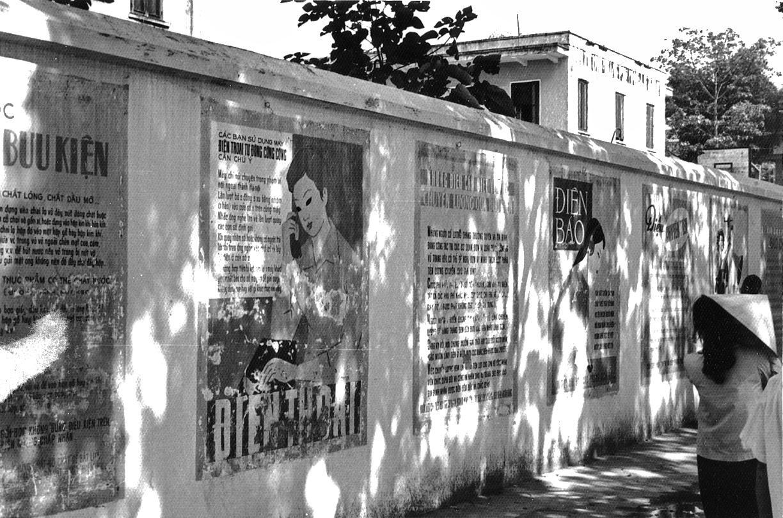 Public notices, Hanoi street