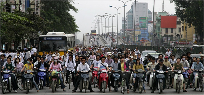 Hanoi rush hour, 2013
